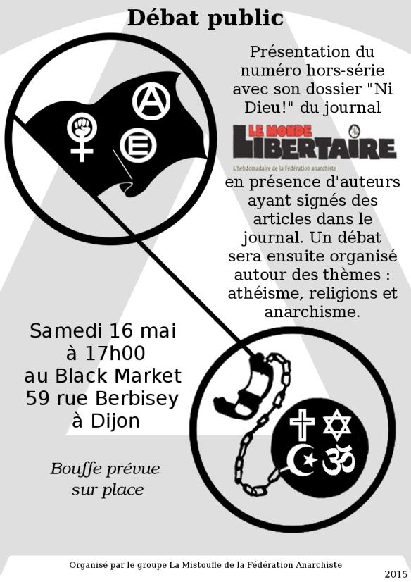 Affiche débat religion 16 mai FA
